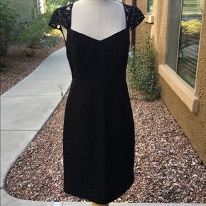 J.Crew Black Lace Cocktail Dress